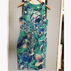 Shoshanna Green Multicolored A Line Dress